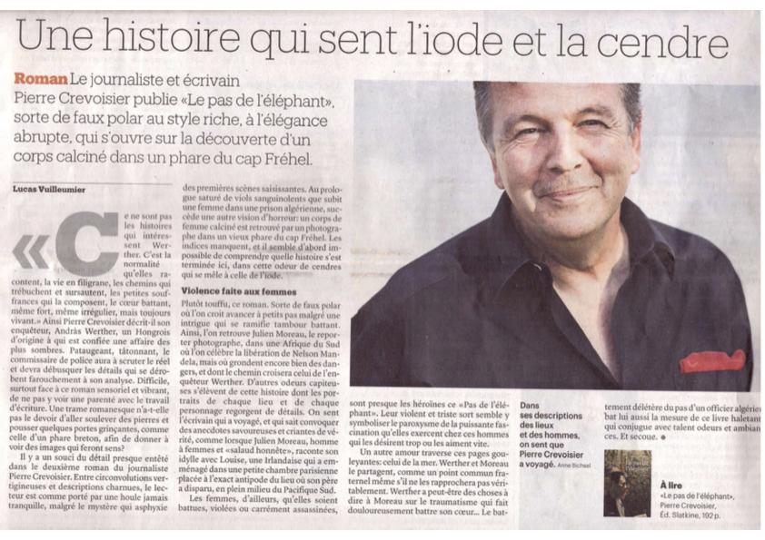 Le Matin Dimanche, Lucas Vuilleumier, 5 février 2017